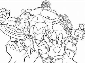 Marvel Coloring Pages Marvel Superhero The Incredible Hulk ...