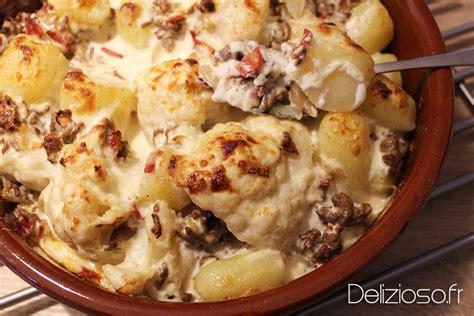 cuisine boeuf gratin de chou fleur et viande hachée délizioso