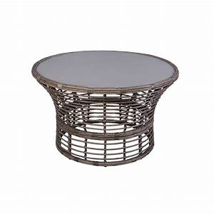 hampton bay cane crossing all weather wicker 44 in round With home depot hampton bay wicker furniture