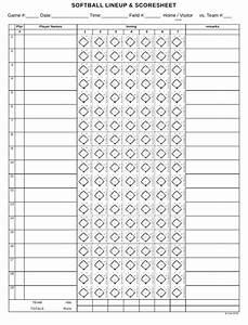 Softball Lineup  U0026 Scoresheet Template Download Printable
