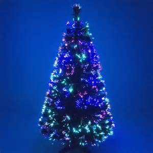 3ft Pre Lit Outdoor Christmas Tree by Green Fibre Optic Christmas Tree With Multicoloured Leds
