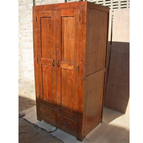 Solid Wood Wardrobe Closet by Solid Wood Rustic Closet Wardrobe Armoire Storage Ebay