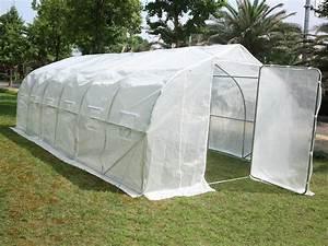 Serre Tunnel De Jardin : serre tunnel de jardin mimosa 2 blanc 18 m 6 x 3 ~ Melissatoandfro.com Idées de Décoration