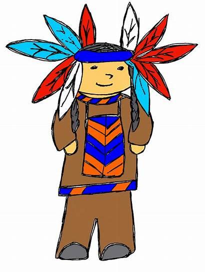 Indian Chief Clipart Clip Thanksgiving Head Cartoon
