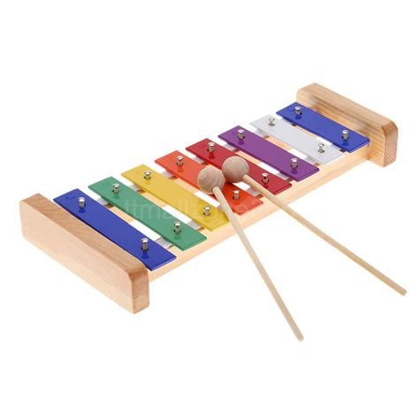 c xylophone wood pine xylophone 8 note 3mm aluminum plate c key