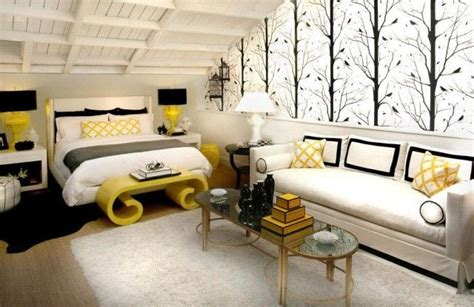 White Bedroom Ideas With Yellow Pop