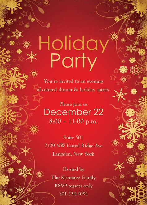 christmas party invitations templates word holiday party