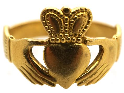 irish ct gold claddagh ring  antique jewellery company