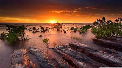 Australia Landscape Desktop Sunset Beach Coast Wallpapers