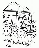 Coloring Pages Dump Truck Transportation Preschool Trucks Heart Loaded Printables Printable Valentine Semi Valentines Land Tractor Getdrawings Cartoon Sand Discover sketch template