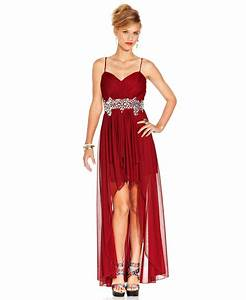 B Darlin Juniors Dress, Spaghetti Strap from Macys | Dresses👗