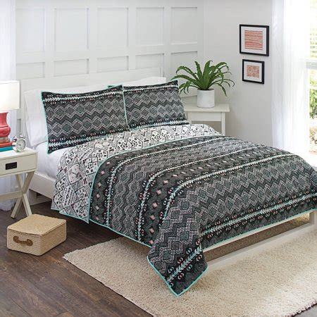 better homes and gardens bedding better homes and gardens onyx aztec quilt collection