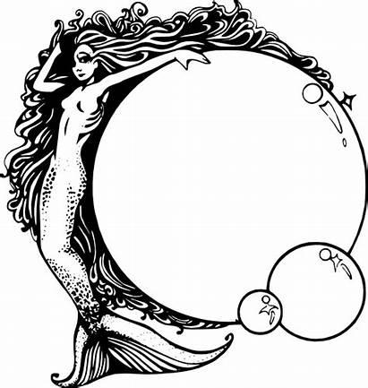 Mermaid Bubbles Clip Svg Clipart Silhouette Clker