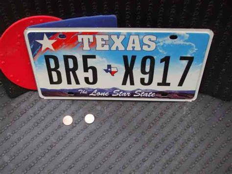 vintage  texas tx truck license plate