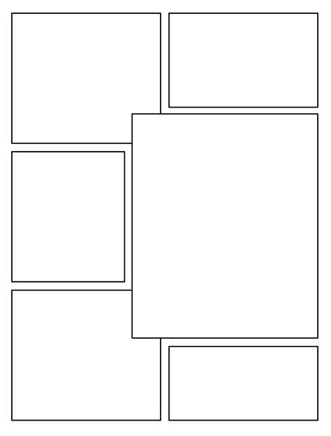 Blank Comic Book Page Template