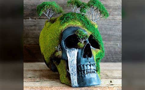 Bonsai Skulls Combine Life Death Beautiful Detail
