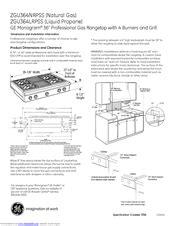 ge monogram zgunrpss manuals manualslib