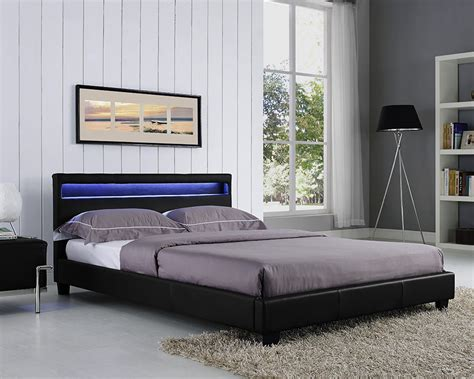 beds with lights in headboard double king size bed frame led headboard night light and