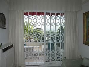 specialiste grille de defense metallique extensible et de With rideau pour terrasse exterieur 17 grilles de protection
