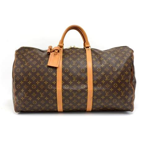 louis vuitton keepall duffle vintage  monogram brown