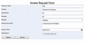 access request approval workflow sharpoint 2010 With user access request form template