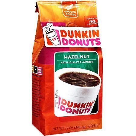 Earthy undertones and a strong hazelnut flavor make this classic roast a fan favorite. Dunkin Donuts Hazelnut Ground Coffee   Drinks/Sodas/Mixes