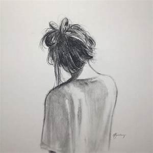 messy bun drawing | Tumblr