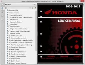Honda Rubicon 500  Fa-fga-fpa  - Service Manual