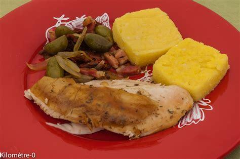 cuisiner le poulet poulet rôti poêlée de légumes méridionales et polenta par
