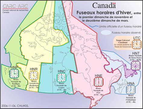 L Canada by Fuseaux Horaires Et L Heure Avanc 233 E Conseil National De