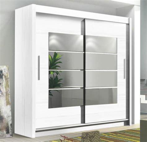 White Mirrored Wardrobe by Instrument Room4 White Modern Large Wide 2 Sliding