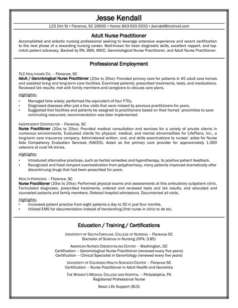 Practitioner Resume by Resume Exles Practitioner Exles