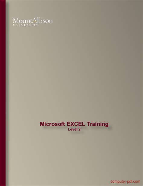 microsoft excel training level   tutorial