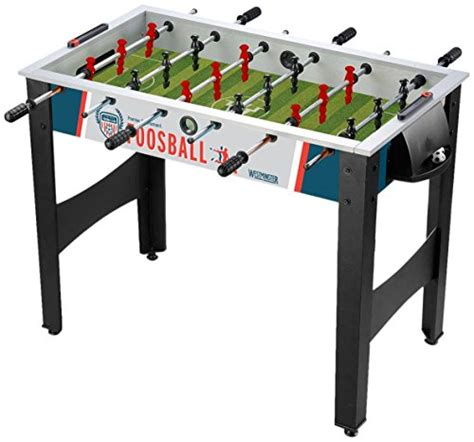 full size foosball table westminster foosball 42 quot full size blue white black