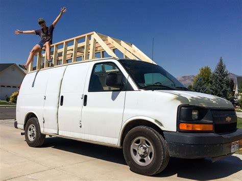 Building The Extended Roof For The Van