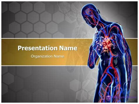 heart attack powerpoint  template
