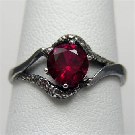 3 day sale red and black engagement ring 2417297 weddbook