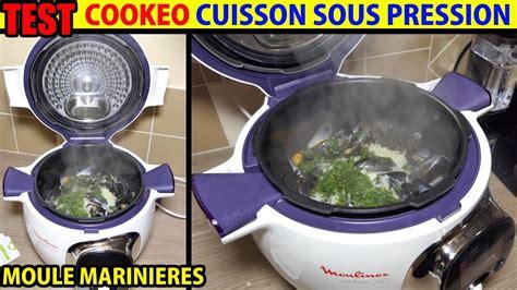 cookeo recette moules marinieres test cuisson sous