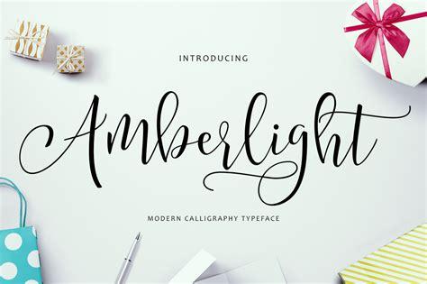 amberlight script font   studio hug  designer