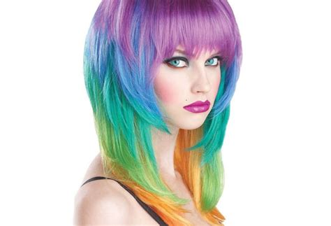 multi hair color trend the colorful drawings on the hair