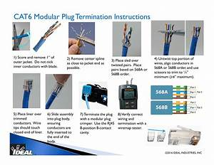 Cat6 Modular Plug Termination Instructions