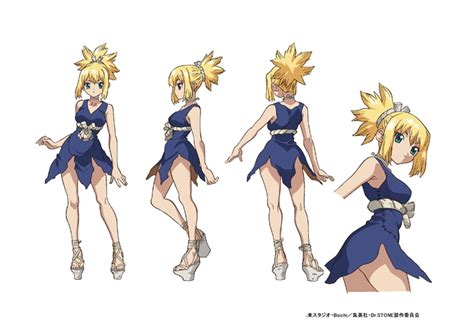 moetron news drstone anime character designs  tv