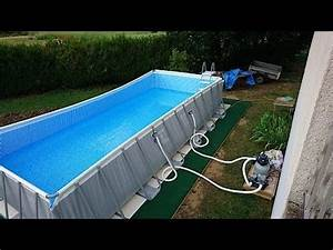 le retour de nico sur sa piscine intex ultra silver 732x3 With piscine intex ultra frame rectangulaire