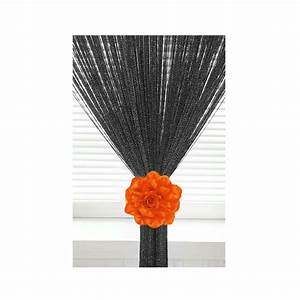 Silk organza rose tie backs voile net curtains flower for Curtain tie backs placement