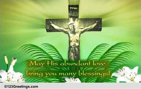bring blessings palm sunday ecards greeting cards