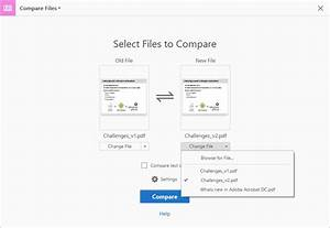 compare two versions of a pdf file in adobe acrobat With pdf document versions