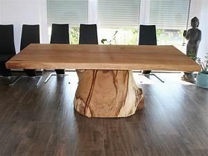 Petite Table Salle À Manger : plateau table bois massif brut ~ Melissatoandfro.com Idées de Décoration