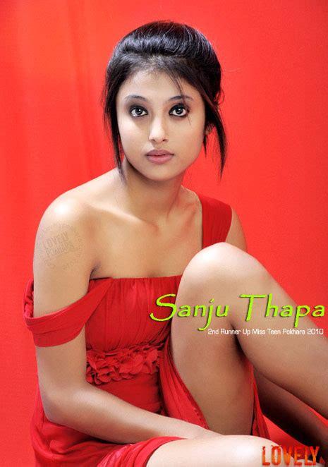 Nepal Model Sansar Sanju Thapa Nd Runner Up Miss Teen