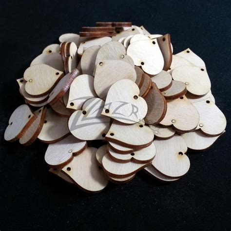 wooden circle disc tag  hole