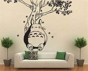 totoro under the tree vinyl wall art decal wd0594 by With totoro wall decal